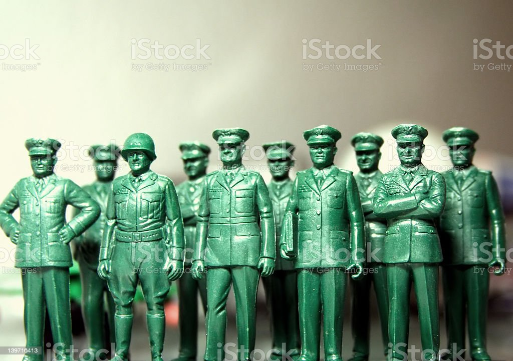 military leadership royalty-free stock photo