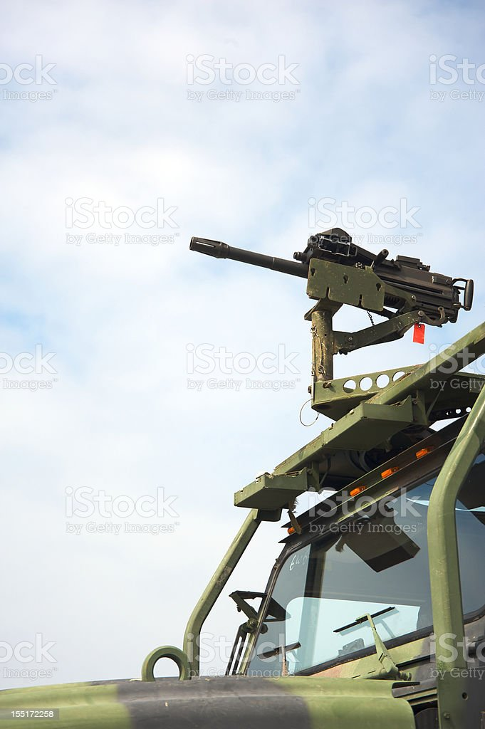 Military machine gun royalty-free stock photo
