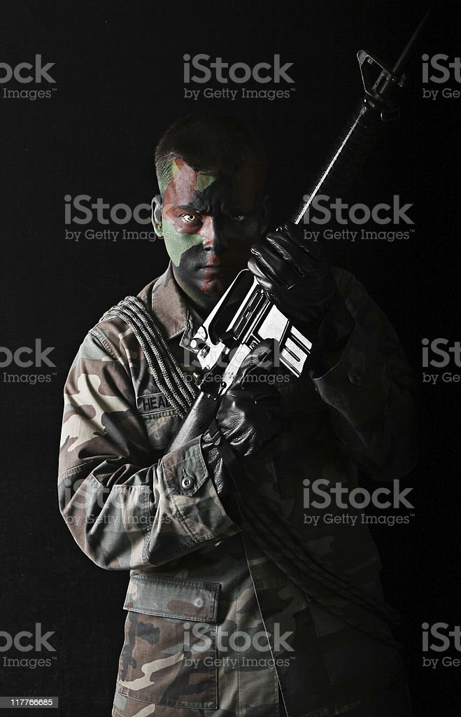 Military Man in Uniform stock photo