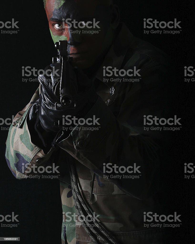 Military Man stock photo