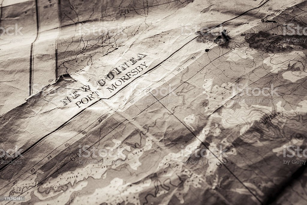 WWII military Map royalty-free stock photo