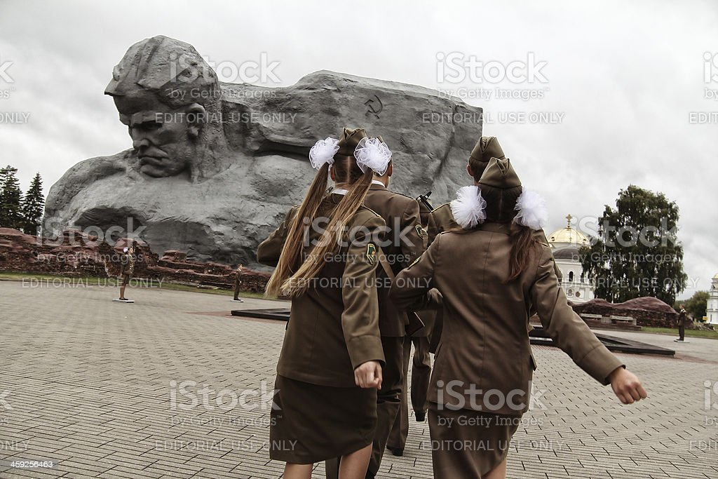 Military march royalty-free stock photo
