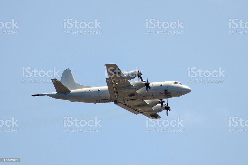 military maritime surveillance airplane Lockheed P3 Orion stock photo