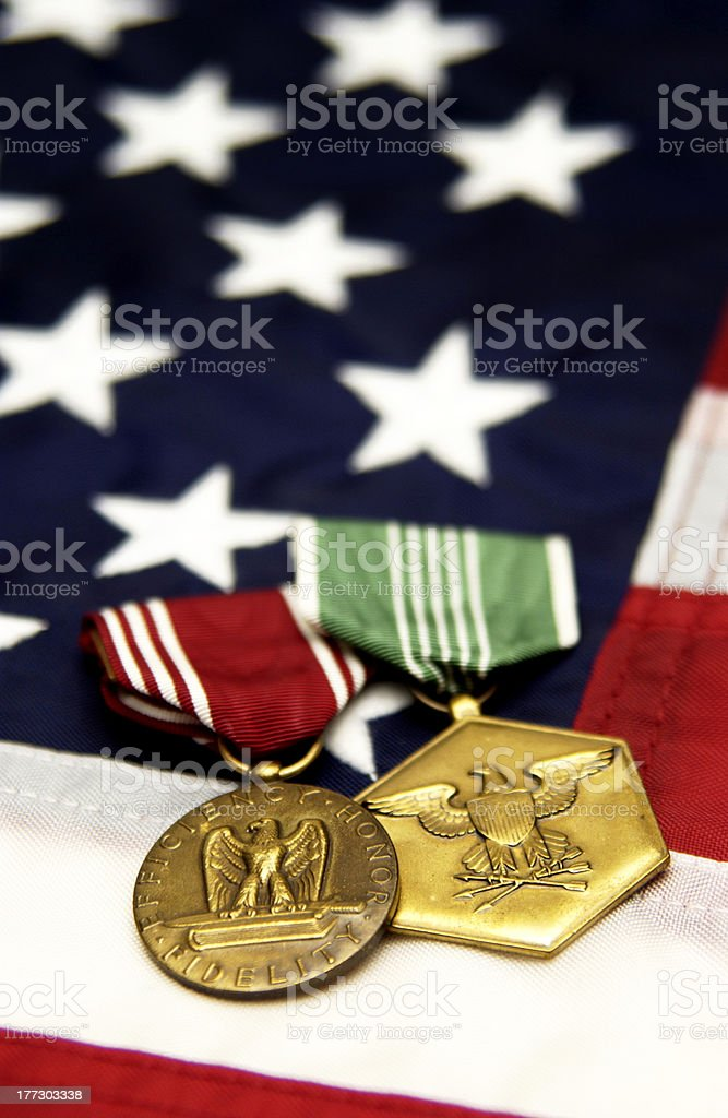 Military medals royalty-free stock photo