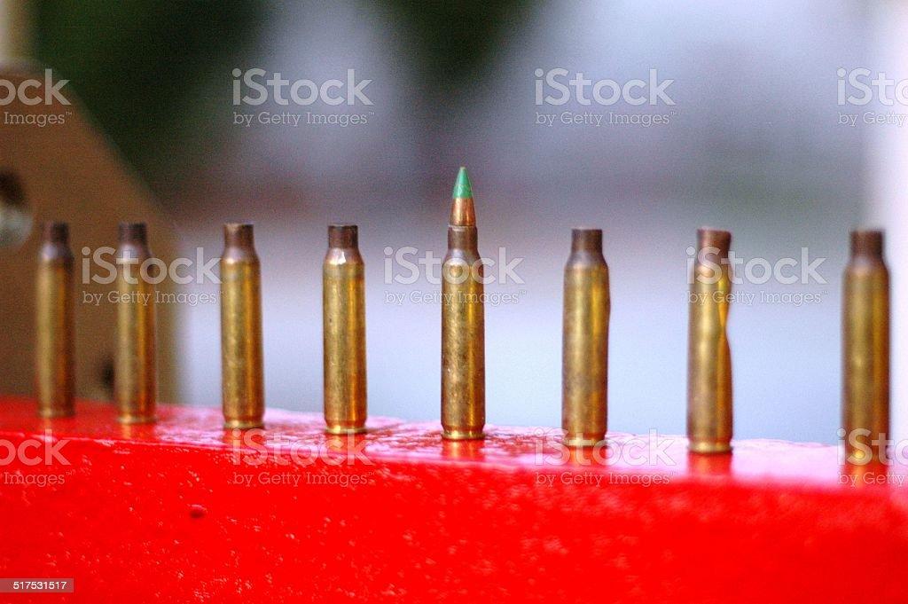 Military Menorah stock photo