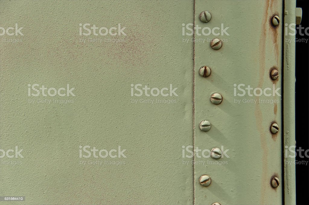 military metal plate. part of the military car. stock photo