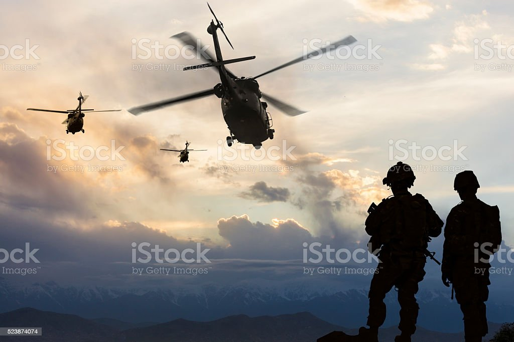 Military Mission stock photo