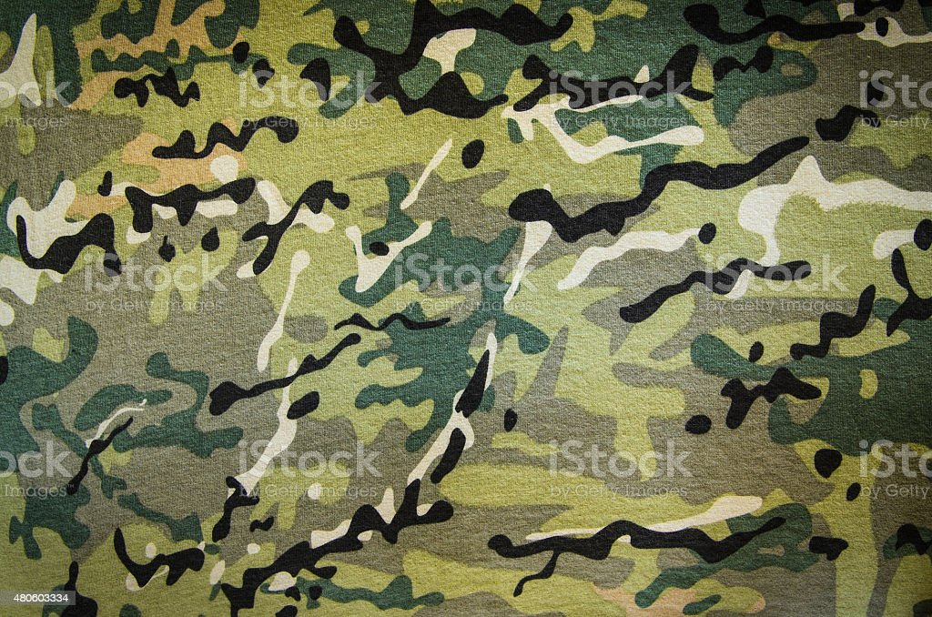 Military multicam camouflage stock photo