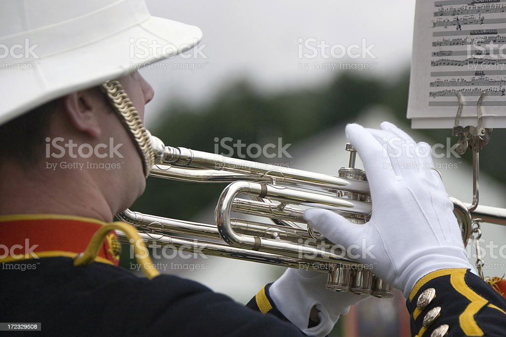 military musican 2 stock photo