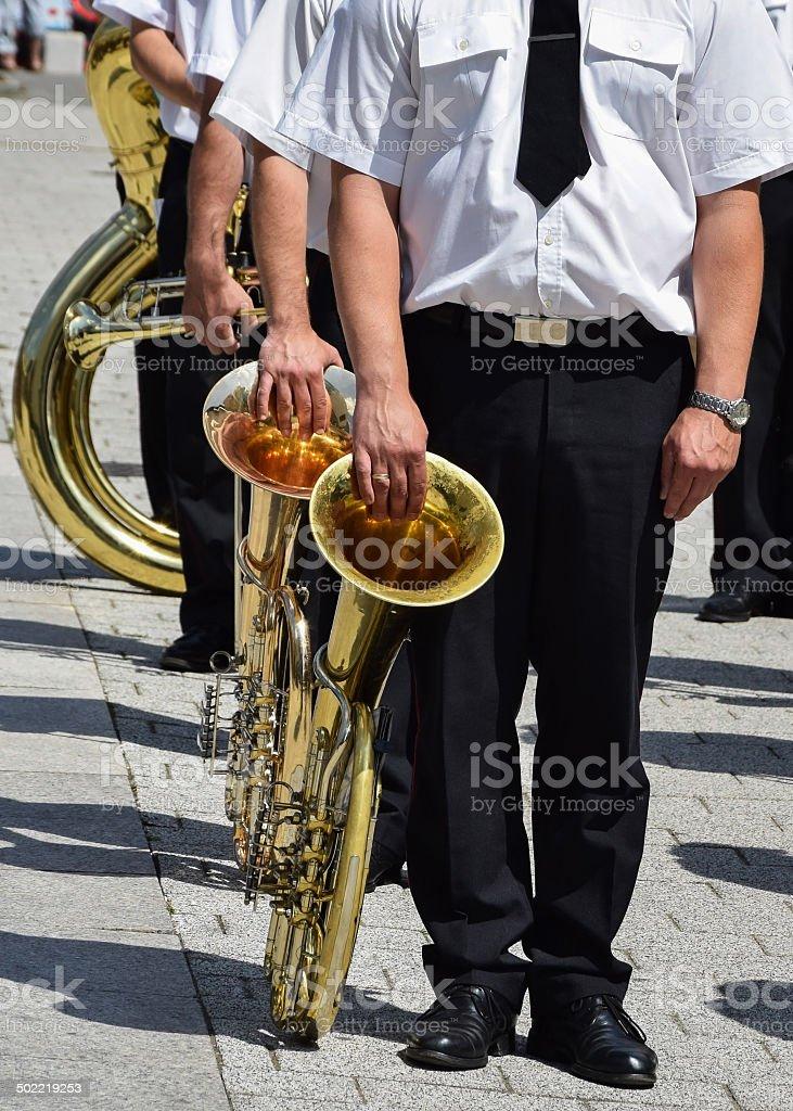 Military musician stock photo