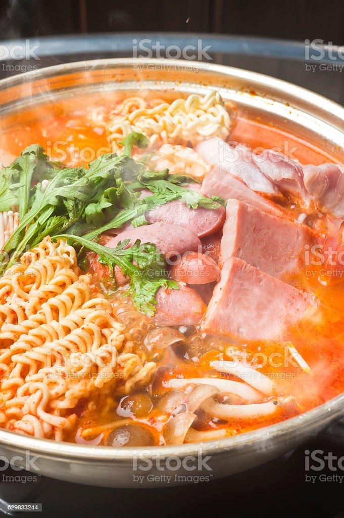 Military Nabe Korean Cuisine stock photo