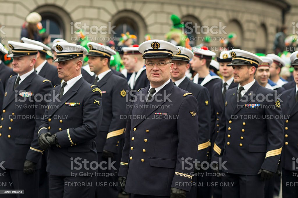 Military Officer  looking directly into the lens royalty-free stock photo