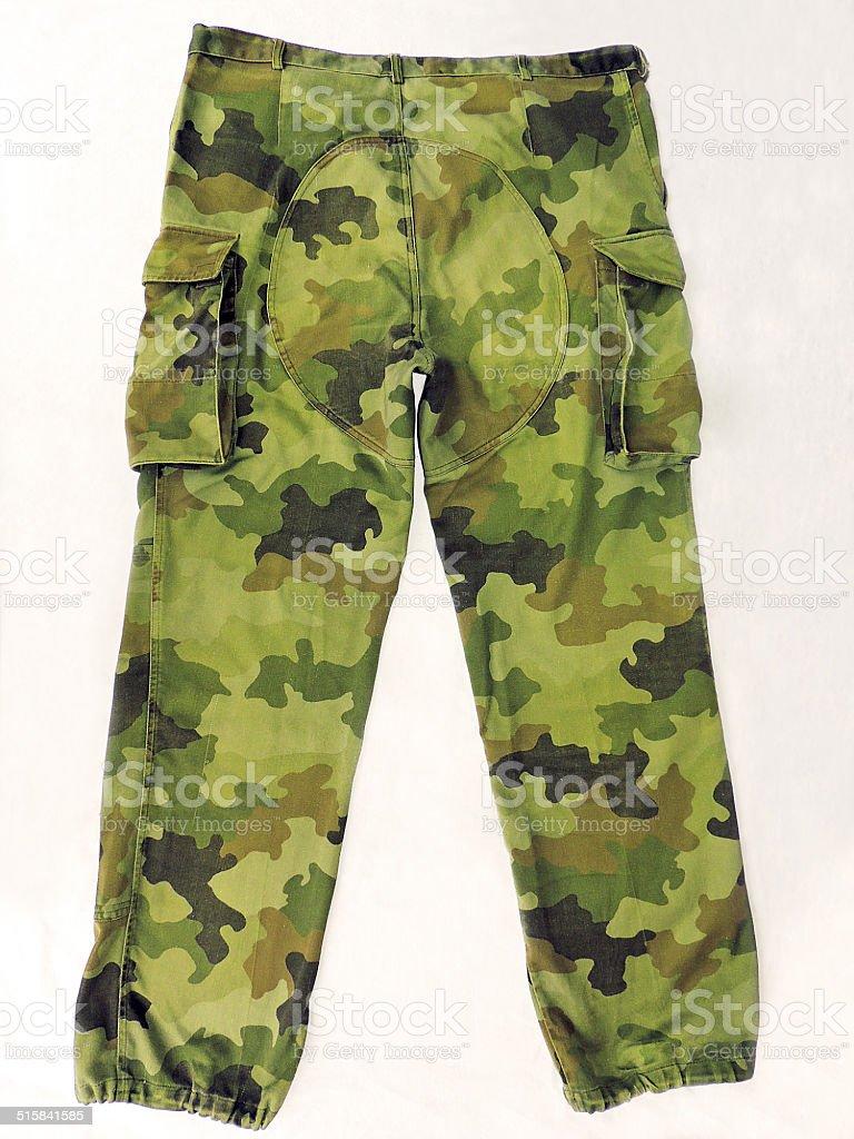Military pants stock photo
