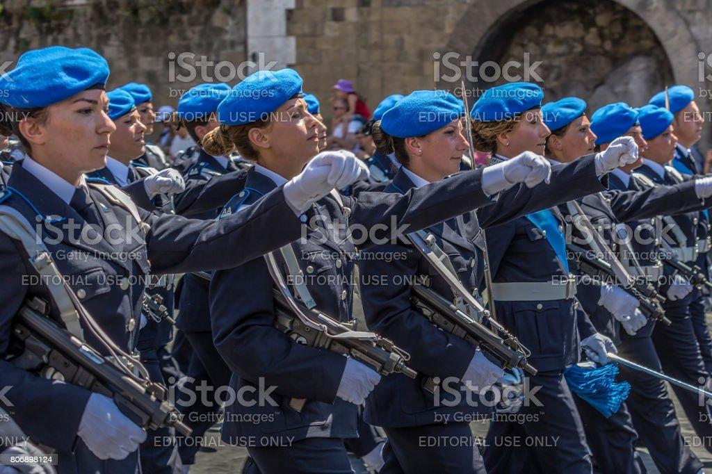 Military parade at Italian National Day stock photo