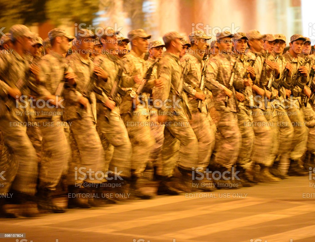 Military parade, Dushanbe, Tajikistan stock photo
