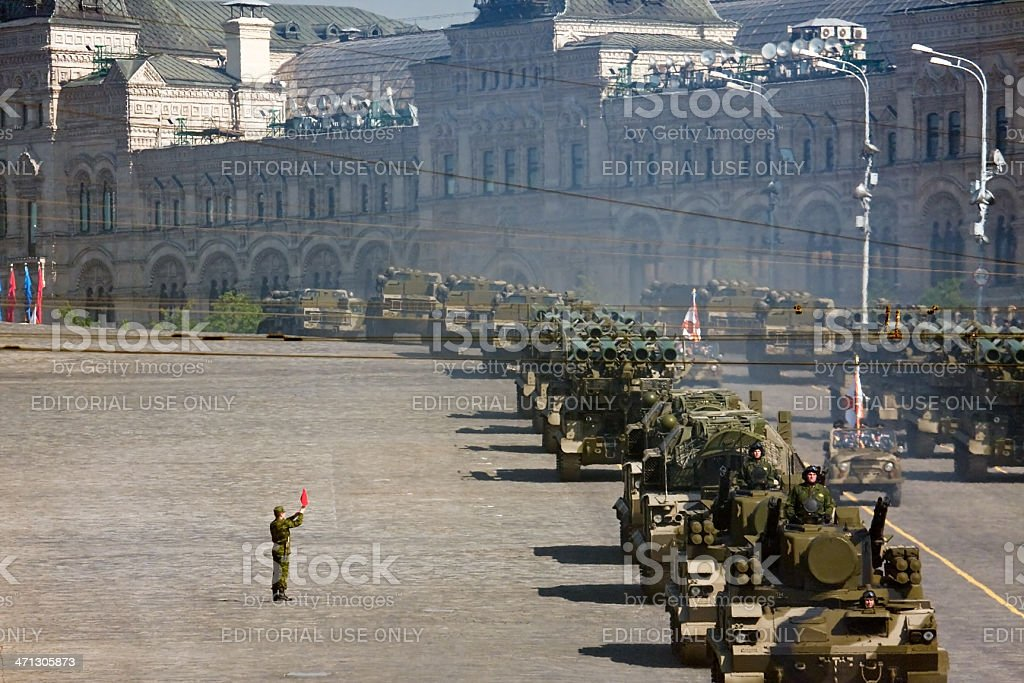 Military parade in Moscow royalty-free stock photo