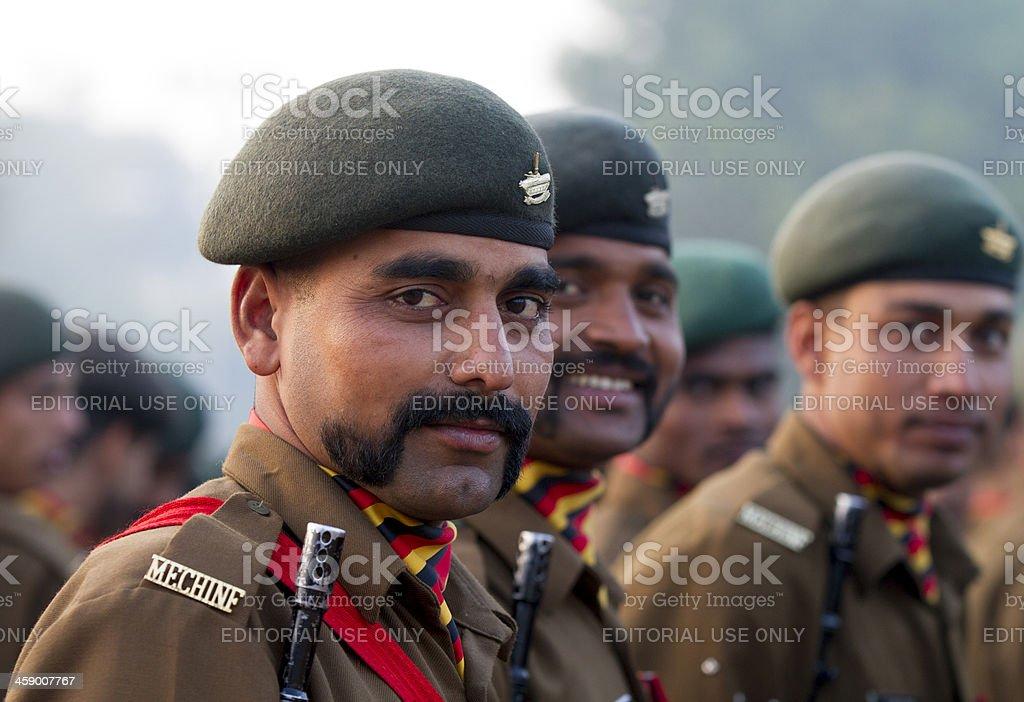 Military parade in New Delhi, India royalty-free stock photo