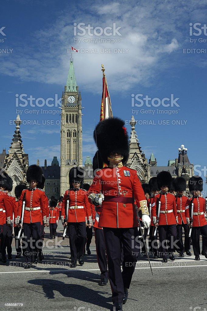 Military parade in Ottawa royalty-free stock photo