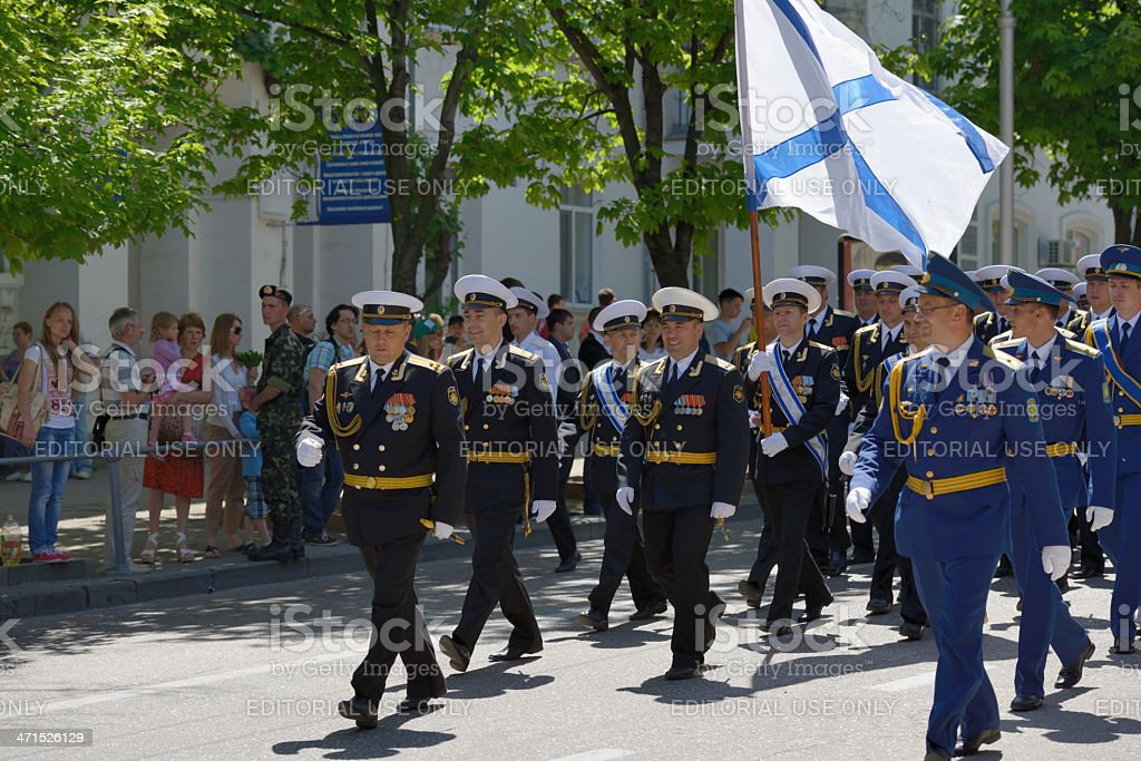 Military parade in Sevastopol, Ukraine royalty-free stock photo