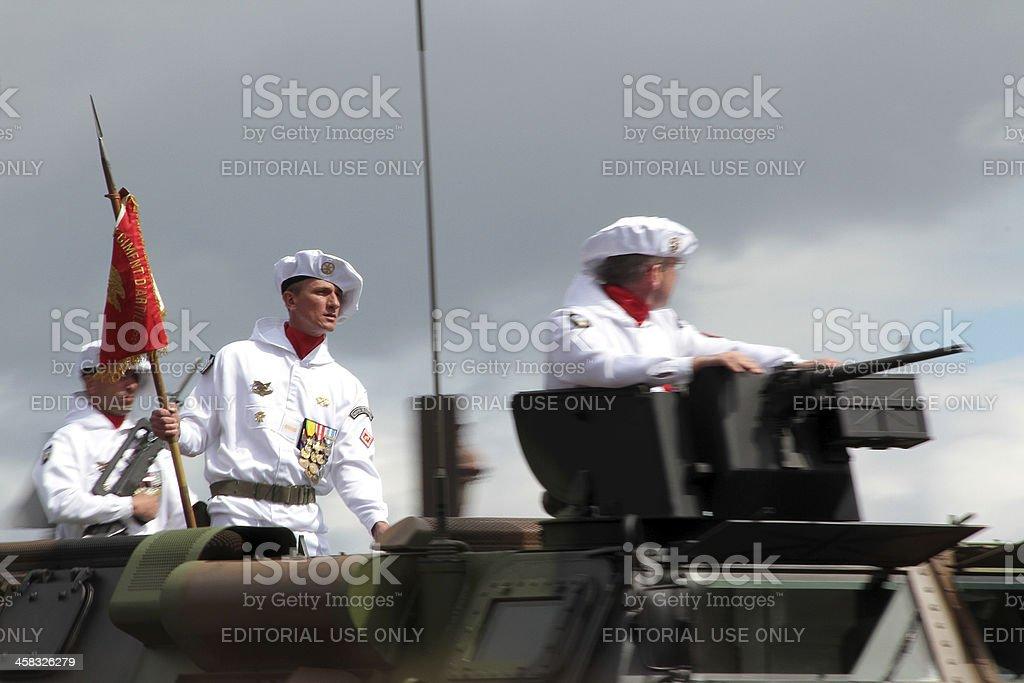 Parata militare sul Giorno della presa della Bastiglia, Parigi foto stock royalty-free