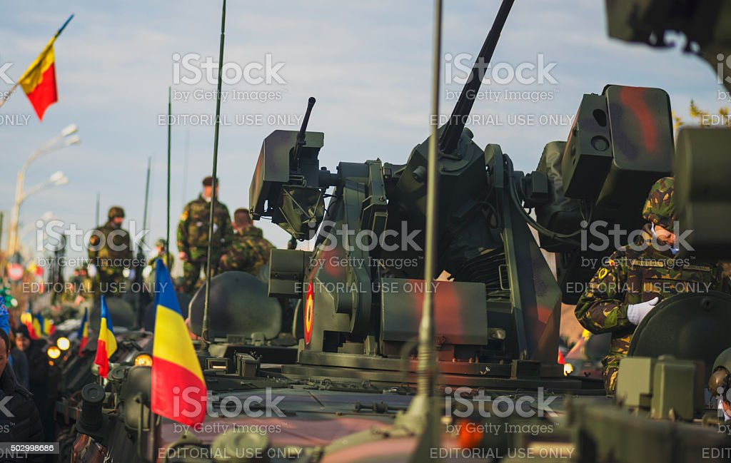 Military Parade on National Day of Romania, 1 December 2015 stock photo