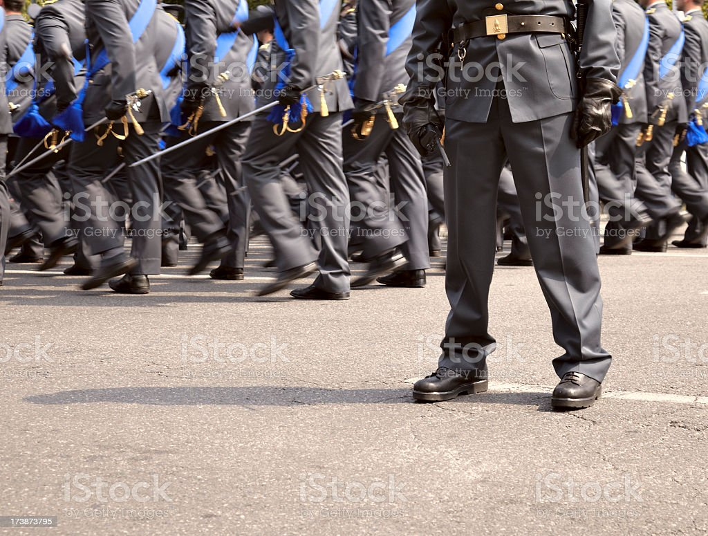 Military parade royalty-free stock photo