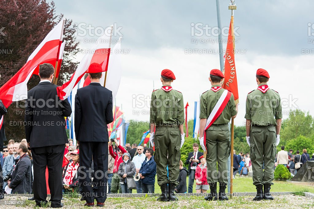 Military parade stock photo