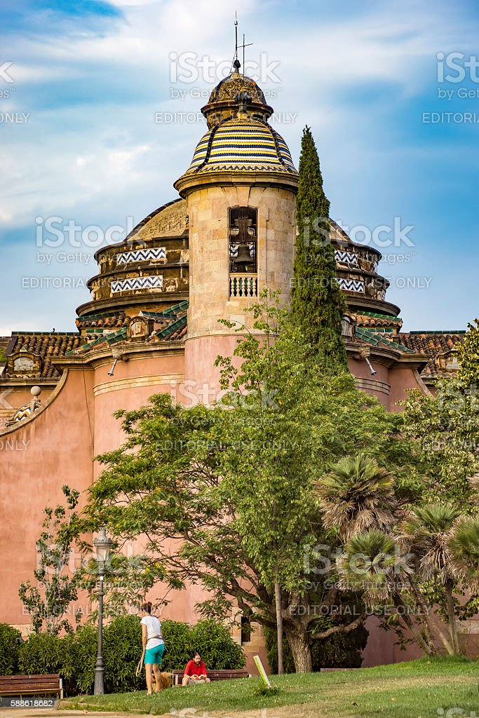 Military Parish Church in Barcelona stock photo