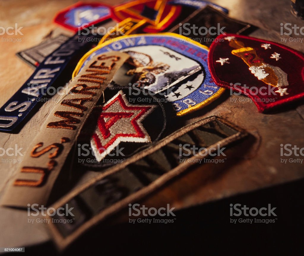 Military patches stock photo