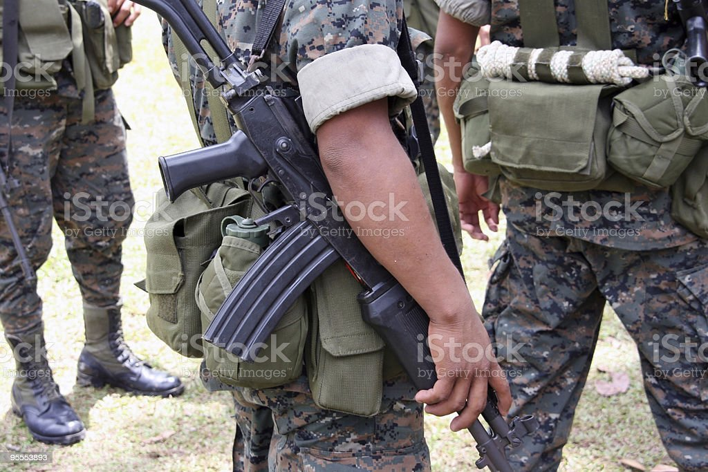 Military patrol royalty-free stock photo