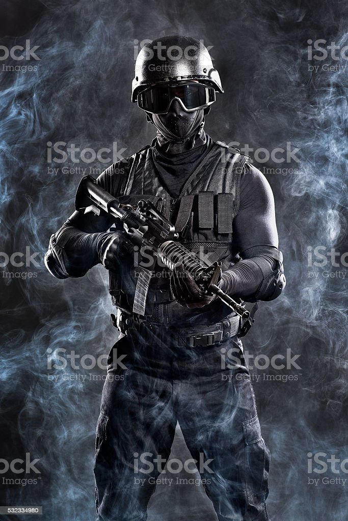 Military personel stock photo