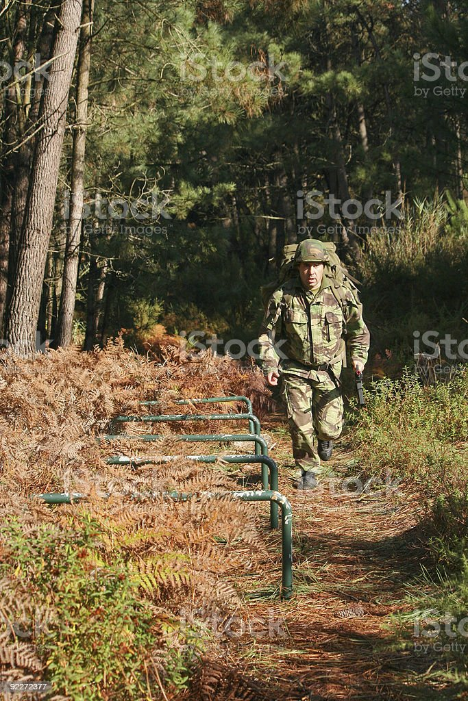 Military physical training royalty-free stock photo