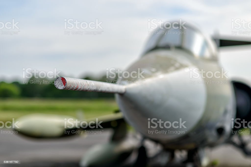 Military plane stock photo