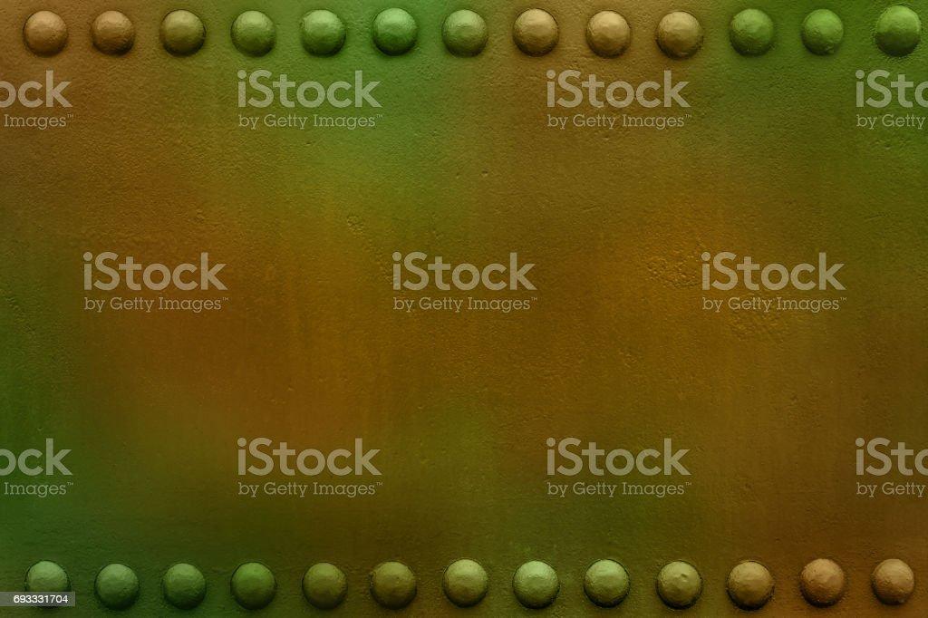 military plate big rivets 1 stock photo