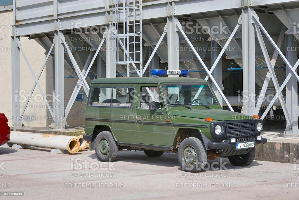 Military police car stock photo