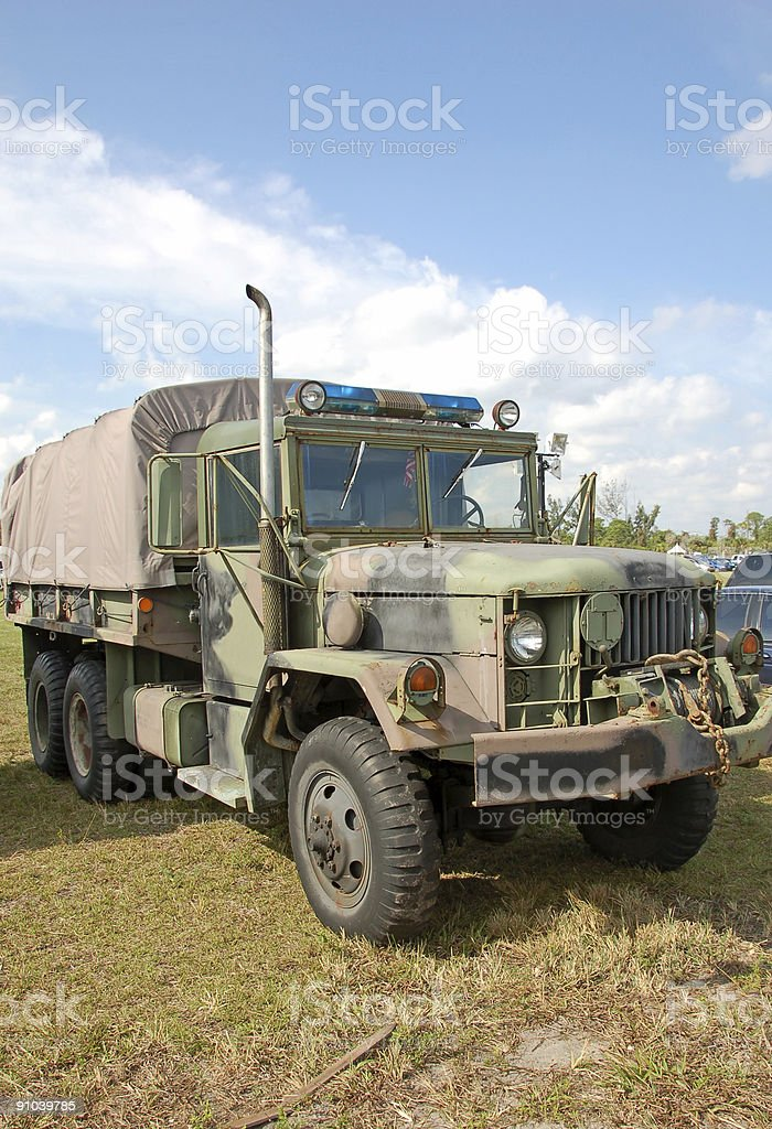Military police offroad truck royalty-free stock photo