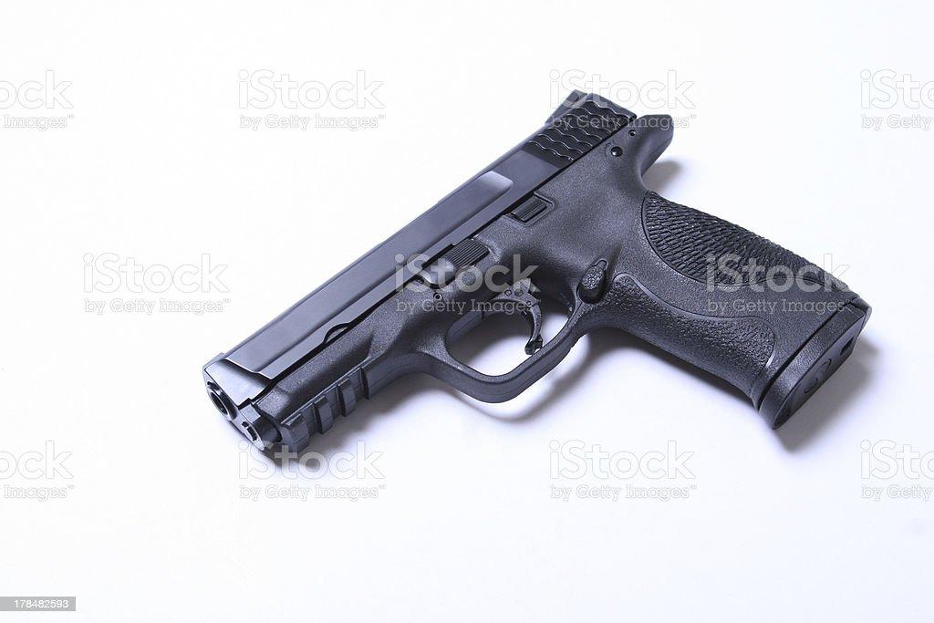 military & police pistol stock photo