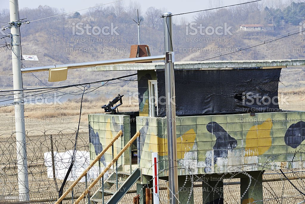 Military Post stock photo