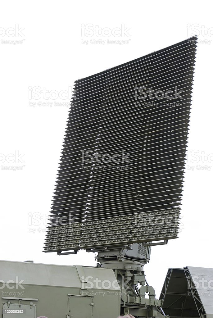 Military Radar Antenna royalty-free stock photo