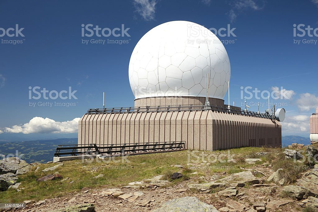 Military Radar royalty-free stock photo