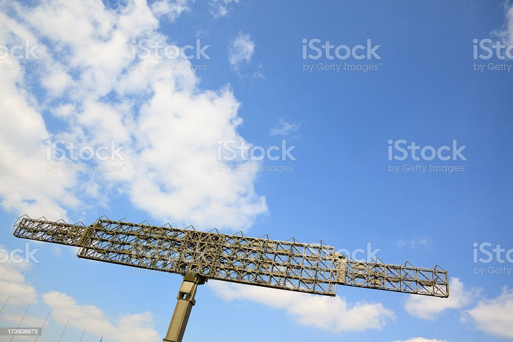 Military radar stock photo