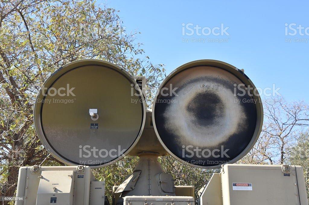 Military radar stock photo