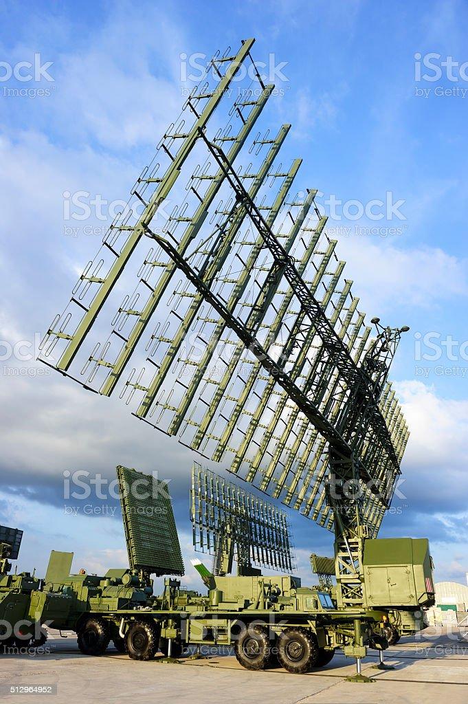 Military radars and locators stock photo