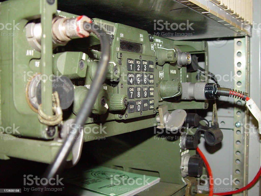 Military Radio royalty-free stock photo