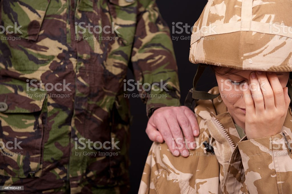 Military Relationships stock photo
