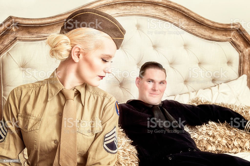 WWII US Military Relationships stock photo
