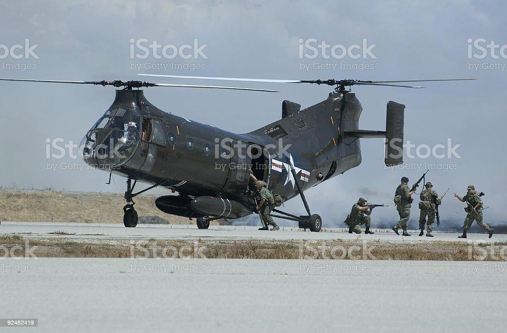 Salvataggio Esercitazione militare foto stock royalty-free