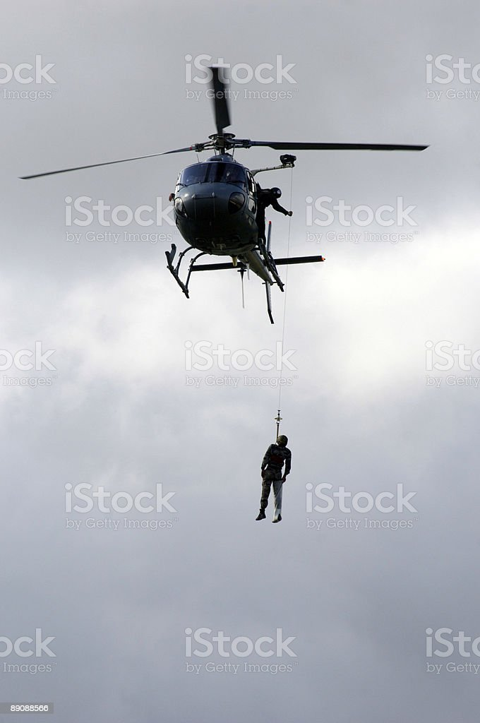 Military rescue royalty-free stock photo