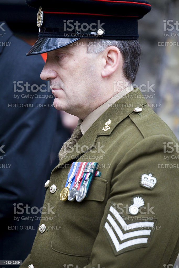 Military Reserve honours the memory lost service men and women stock photo