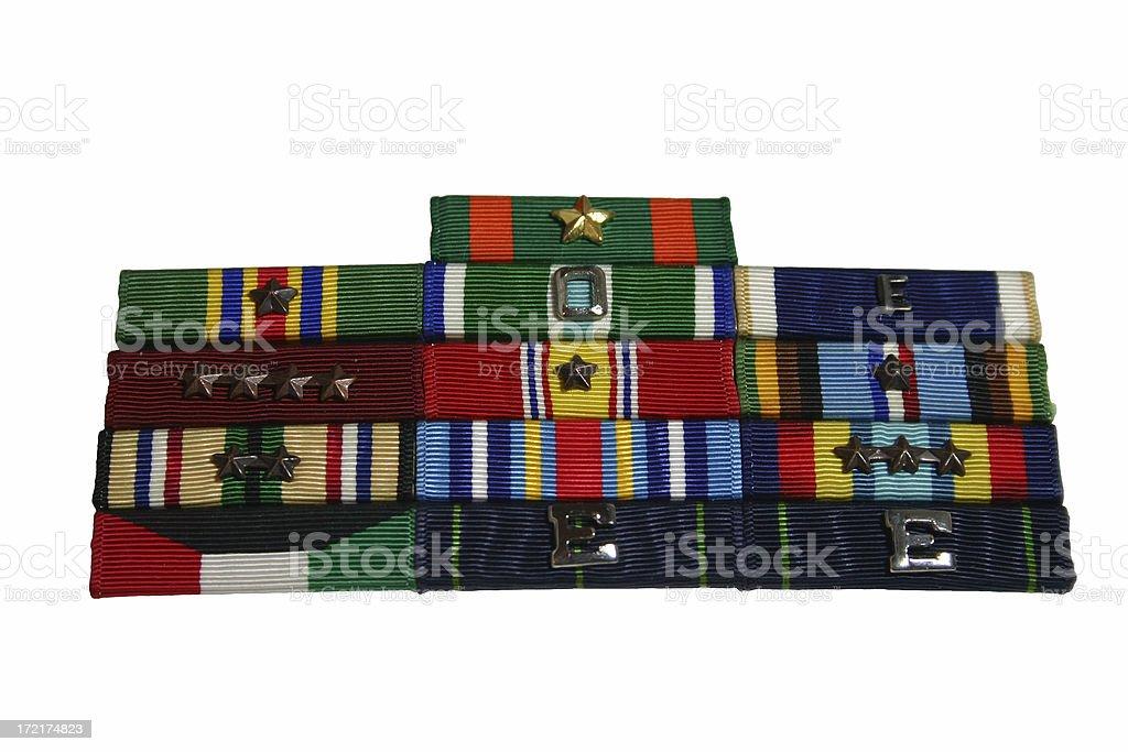 Military Ribbons royalty-free stock photo